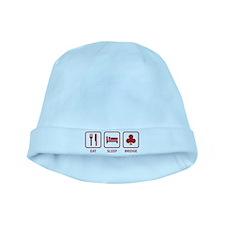 Eat Sleep Bridge baby hat