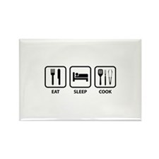 Eat Sleep Cook Rectangle Magnet
