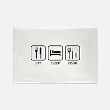 Eat Sleep Cook Rectangle Magnet