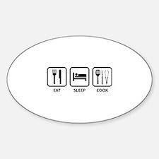 Eat Sleep Cook Sticker (Oval)
