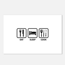 Eat Sleep Cook Postcards (Package of 8)