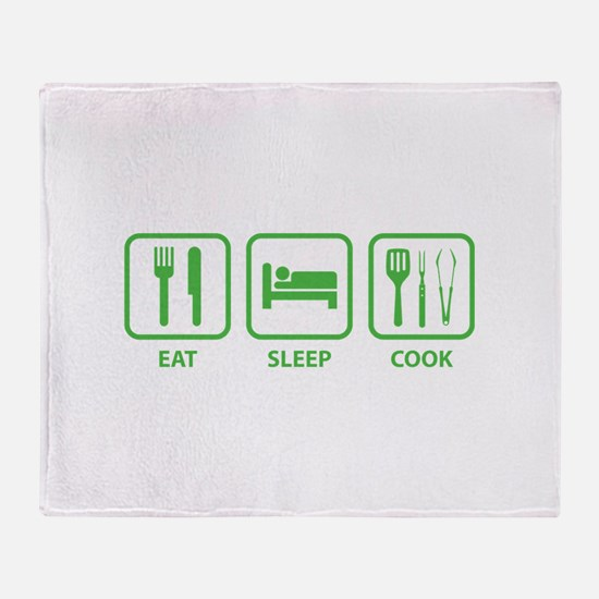 Eat Sleep Cook Throw Blanket