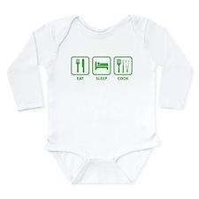 Eat Sleep Cook Long Sleeve Infant Bodysuit