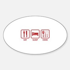 Eat Sleep Cook Decal