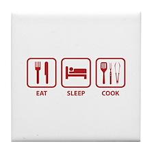Eat Sleep Cook Tile Coaster