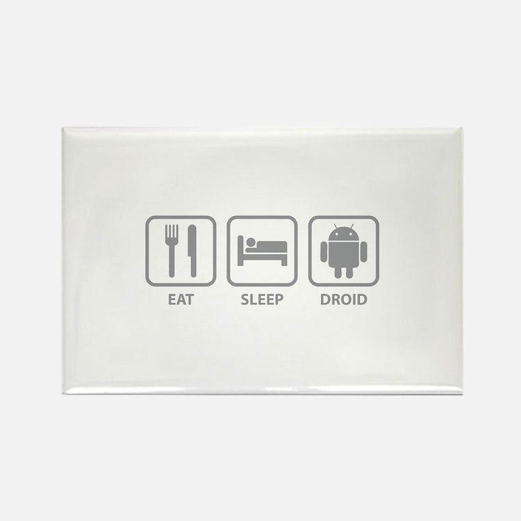 Eat Sleep Droid Rectangle Magnet