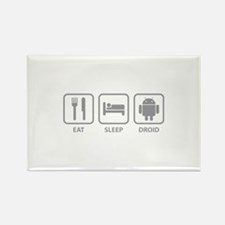 Eat Sleep Droid Rectangle Magnet (10 pack)