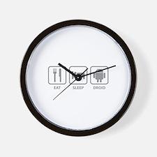 Eat Sleep Droid Wall Clock