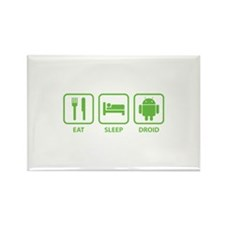 Eat Sleep Droid Rectangle Magnet