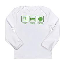 Eat Sleep Droid Long Sleeve Infant T-Shirt