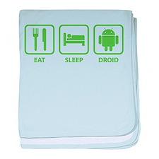 Eat Sleep Droid baby blanket
