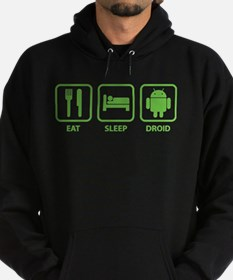 Eat Sleep Droid Hoodie (dark)