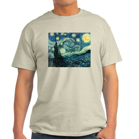 Starry Night Ash Grey T-Shirt