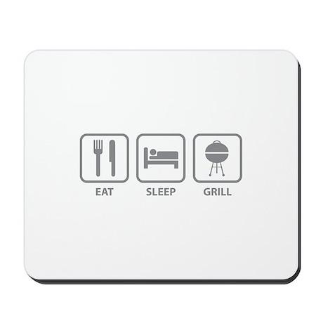 Eat Sleep Grill Mousepad