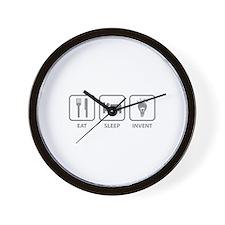 Eat Sleep Invent Wall Clock