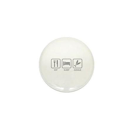 Eat Sleep Juggle Mini Button (100 pack)