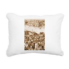 The Globe Theatre Rectangular Canvas Pillow