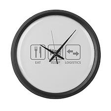Eat Sleep Logistics Large Wall Clock