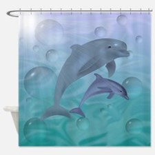 Dolphins Swimming Shower Curtain