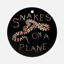Snakes on a Plane - movie thriller Ornament (Round
