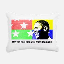 Rock Star Obama 08 Rectangular Canvas Pillow