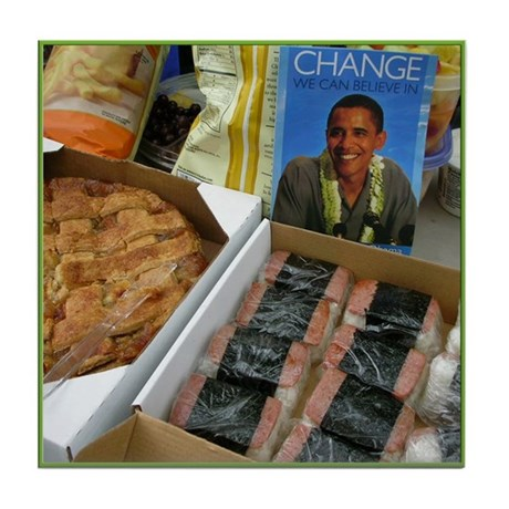 Obama Ohana Picnic Tile Coaster