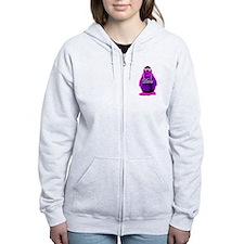 Diva Penguin Zip Hoodie