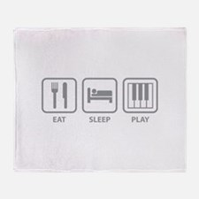 Eat Sleep Play Throw Blanket
