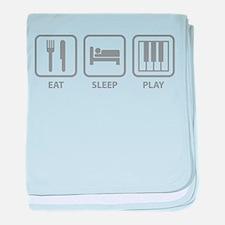 Eat Sleep Play baby blanket