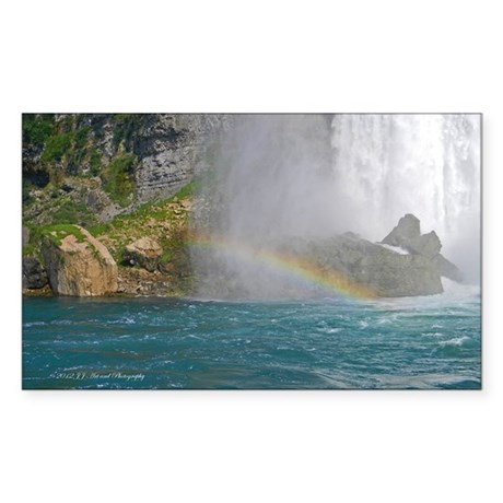 Bridal Falls Rainbow Sticker (Rectangle)