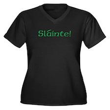Slainte! (text only) Women's Plus Size V-Neck Dark