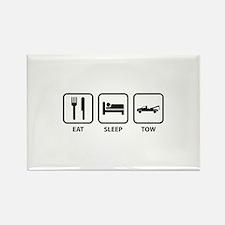 Eat Sleep Tow Rectangle Magnet