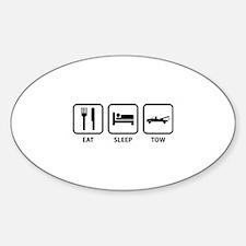 Eat Sleep Tow Sticker (Oval)