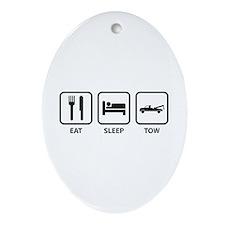 Eat Sleep Tow Ornament (Oval)