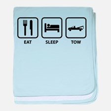 Eat Sleep Tow baby blanket