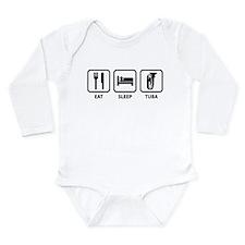 Eat Sleep Tuba Long Sleeve Infant Bodysuit