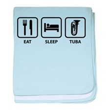 Eat Sleep Tuba baby blanket