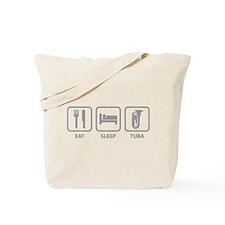 Eat Sleep Tuba Tote Bag