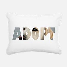 Adopt Dog Cut-Out Rectangular Canvas Pillow