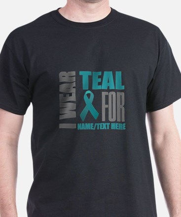 Teal Awareness Ribbon Customized T-Shirt