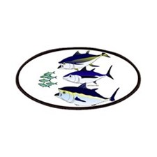 Three Tuna Chase Sardines fish Patches