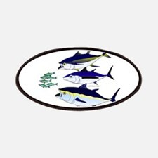 Three Tuna Chase Sardines fish Patches