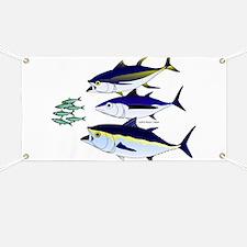 Three Tuna Chase Sardines fish Banner