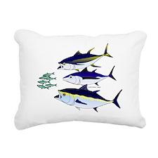 Three Tuna Chase Sardines fish Rectangular Canvas