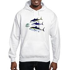 Three Tuna Chase Sardines fish Hoodie