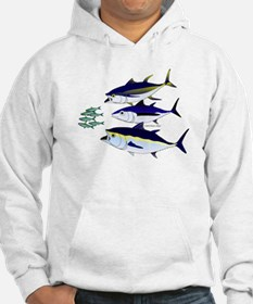 Three Tuna Chase Sardines fish Hoodie