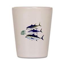 Three Tuna Chase Sardines fish Shot Glass