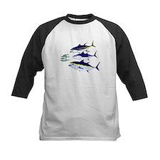Three Tuna Chase Sardines fish Tee