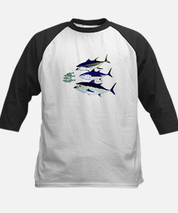 Three Tuna Chase Sardines fish Tee