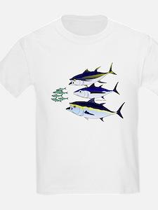 Three Tuna Chase Sardines fish T-Shirt